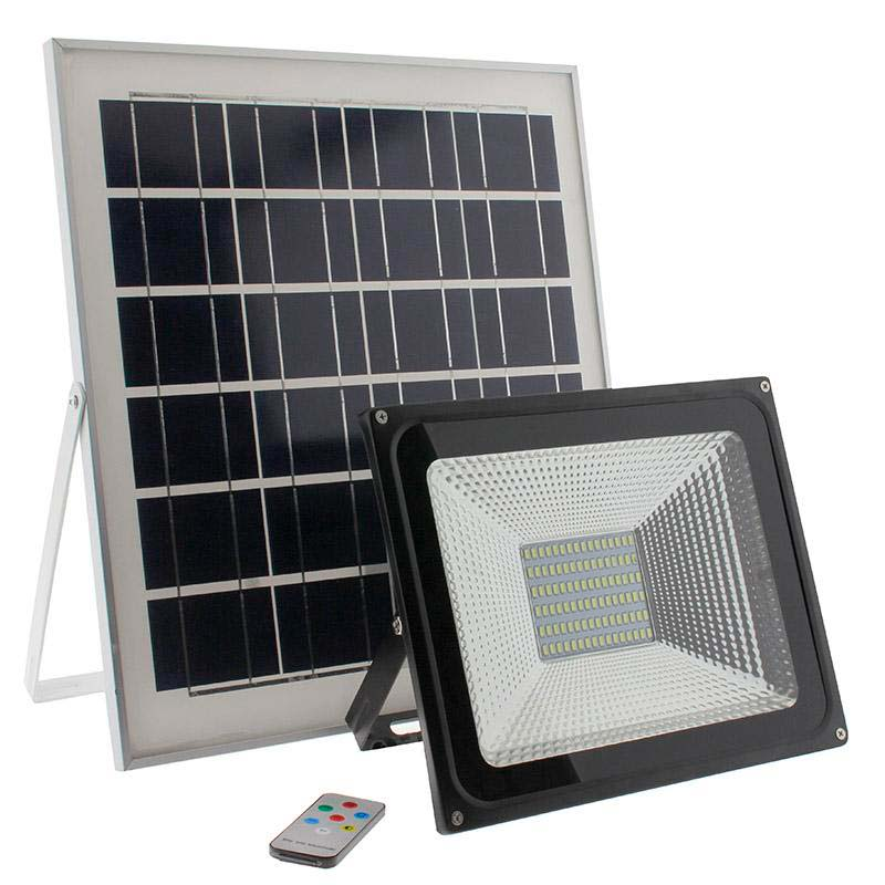 Proyector LED SOLAR 50W, Blanco frío, Regulable